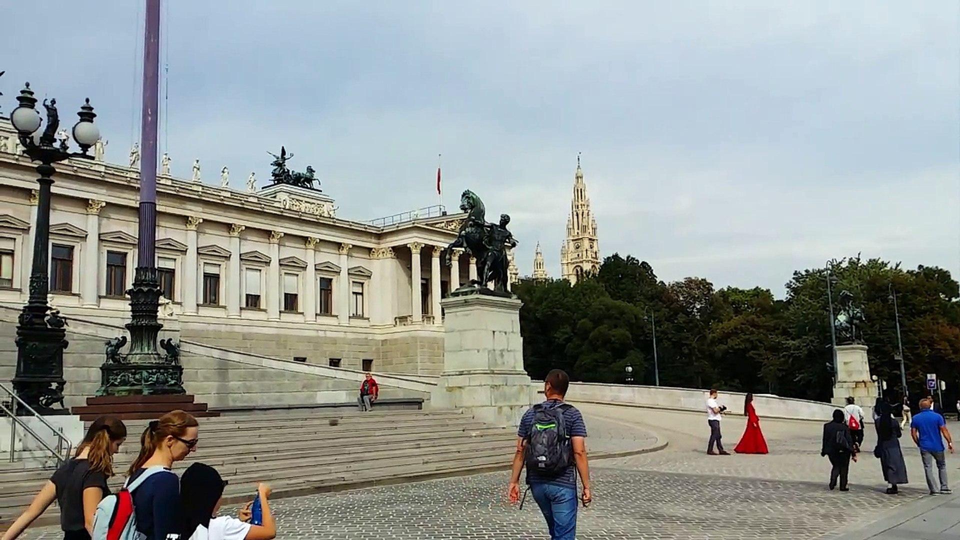Austrian Parliament Building. Vienna, Austria. 2015-09-15
