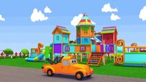 La Voiture de police et Tom la dépanneuse   Voitures et camions dessins animés pour les enfants