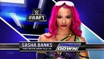 720pHD RAW & Smackdown brand split with WWE Draft return ( Sasha Banks,Emma & more Superstars )