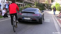 Mercedes AMG GT-S Prior-Design PD800 GT Widebody - Revs & Accelerations in Monaco
