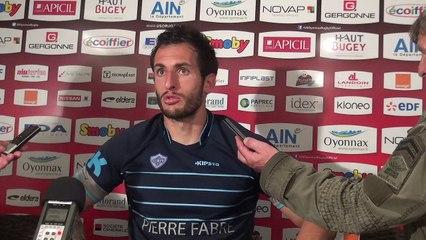 Rugby Top 14 - Julien Dumora réagit après US Oyonnax - Castres