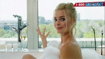 Margot Robbie Takes a Bubble Bath for Charity