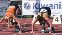 Marlou van Rhijn 100m world record in Nottwil