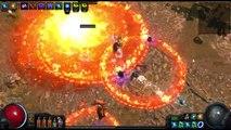 Village Ruin 79 map. 4 FlameBlast totem (Maximum Reduced Duration Totem).