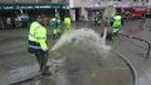 Inondations dans les rues de Lourdes