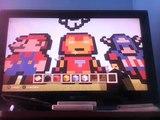 Tuto Pixel Art Minecraft Captain America Toon Video