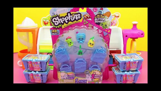 Frozen Elsa, Anna, Spiderman Shopping for Shopkins 5 Pack at Fruit and Veg Stand by DisneyCarToys
