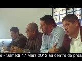 """Conférence de presse - Samedi 17 Mars 2012 au centre de presse """"Hôtel Balloua - Tizi Ouzou"""""""