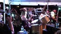 """Nicko McBrain @ Rock n Roll Ribs playing """"2 minutes to midnight"""" and """"the Trooper"""" 12/14/13"""