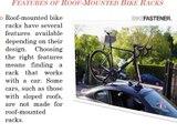 Roof Mounted Bike Racks for car - Bike Fastener