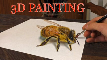 Drawing of a BEE in 3D/ Speed Painting