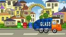Dessin animé voiture. Camion poubelle, Camion, Le Camion Monstre. Tiki Taki Dessins Animes