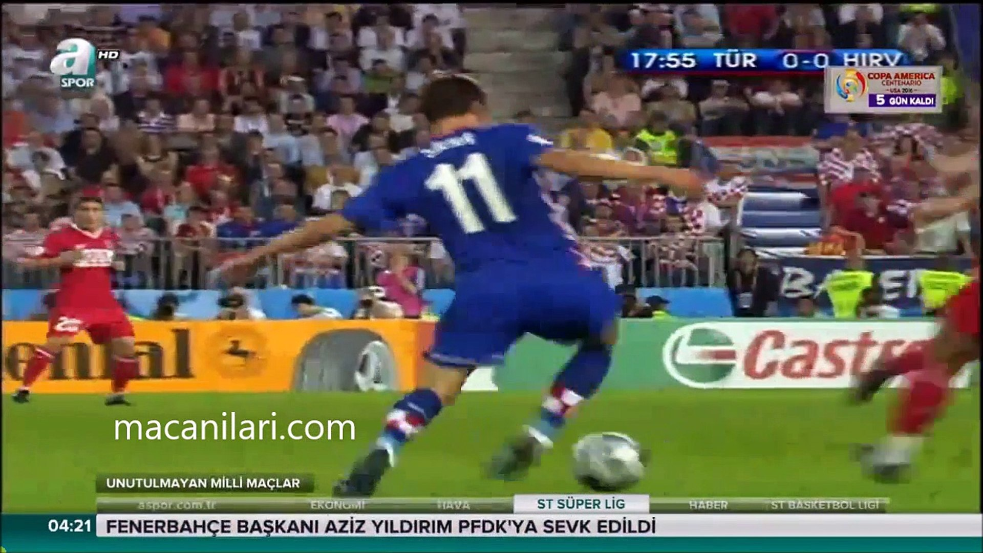 [HD] 20.06.2008 - UEFA EURO 2008 Quarter Final Croatia 1-1 Turkey (With Pen. 1-3) - Avrupa Futbol Şa