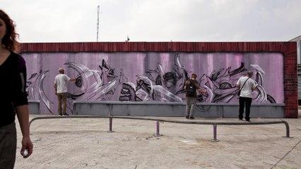 Jam de graff @ La halle de glisse, Lille.