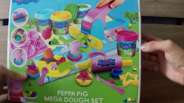 Peppa Pig Mega Dough Fun Factory Set Play Doh Shape Fruits  Vegetables  cupcakes