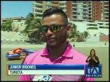 Manabitas preocupados por baja afluencia de turistas en el feriado