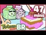 Os Padrinhos Mãgicos Episódios Para Crianças - Divertido com Alimentos - Compilação De 47 Mins