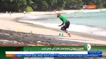 L'entrainement de Rais M'Bolhi dans le sable avant Algérie-Seychelles !