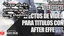 Crear efecto sombras largas (long shadows) en títulos – Tutorial After Effects