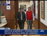 Académicos y personalidades proponen a Enrique Ayala Mora como candidato a la presidencia