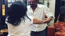 Sanjay Dutt With Wife Maanayata Dancing (Video)