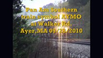 Pan Am Southern AYMO crawling by Walker Rd. Ayer,MA 09/28/2010