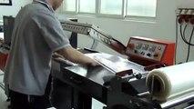 Máy cắt dán màng co bán tự động, máy rút màng co POF, máy rút màng co hộp bằng màng POF