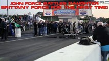 John Force battles daughter Brittany Force for the first time! - Top Fuel Race -