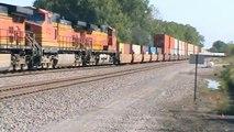 Ashland, NE, BNSF # 5371 Dash 9 C44-9W Intermodal .  9-20-11
