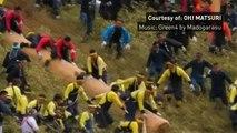 Onbashira, the deadly log-riding festival of Japan
