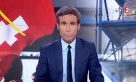 Le journaliste de France 2, David Pujadas, s'énerve lors d'un direct