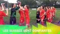Match de l'euro foot  jeunes féminines Suisse contre l'Irlande Du Nord