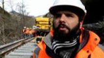 Amaury Cavan, ingénieur pilotage setec, détaille le chantier de la Oloron-Canfranc