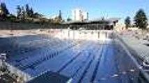 Stade nautique Pyrénéo : mise en eau d'un 1er bassin