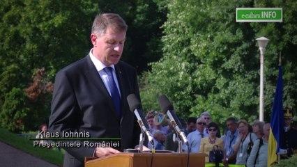 Discursul Presedintelui Klaus Iohannis la inaugurarea monumentului 'Aripi' din Piata Presei