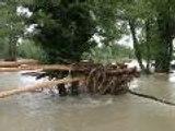 La voie verte entre Laroin et Tarsacq sous l'eau