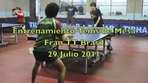 Table Tennis - Entrenamiento Varonil Fran TT Brasil - 29 Julio 2011