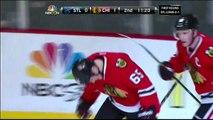 Andrew Shaw backhand shot PPG 1-0 St. Louis Blues vs Chicago Blackhawks 4/23/14 NHL Hockey.
