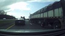 Road rage qui fini mal pour tout le monde : gros crash