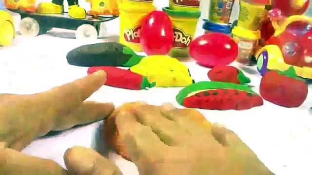play doh Sandwich fruit mickey mouse angry birds surprise eggs cars peppa pig pizza