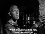 The Seventh Seal, Bergman, 1957   We must make an idol of our fear, and that idol we shall call God