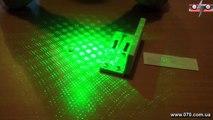 Зеленая лазерная указка BOB Laser BGP 3012 1 200mW 5 насадок