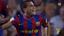 Relembre gols de Daniel Alves com a camisa do Barcelona
