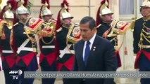 Le président péruvien Ollanta Humala reçu par François Hollande