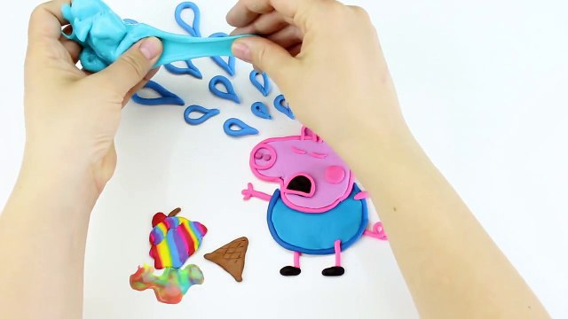 Peppa Pig Family Crying! Little George Crying Peppa Pig! Peppa Pig Play Doh :))