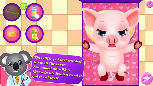 My Pet Doctor - Baby Piggy: Doctor Game - Games for Kids