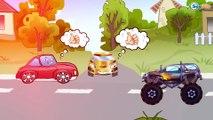 ✔ Voiture de course, Monster Truck pour bébés. Dessins animé voiture. Tiki Taki Voitures. Série 12✔