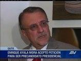 Enrique Ayala Mora acepta precandidatura a la presidencia