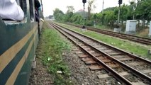 Up titas commuter and 702 dwn crosses Dhaka cantonment RS- Bangladesh railway