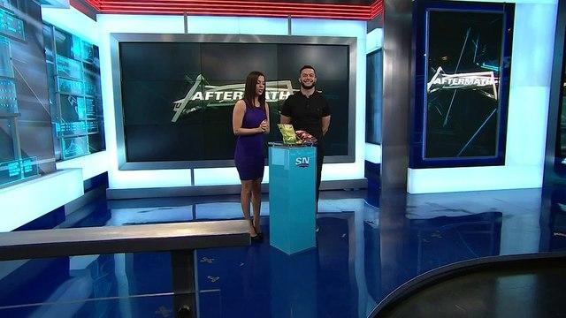 Finn Bálor tastes Canadian specific snacks with Jackie Redmond